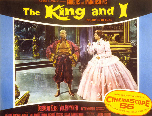 1956 Movies Poster featuring the photograph The King And I, Yul Brynner, Deborah by Everett