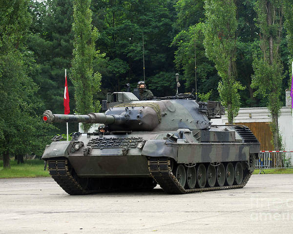 Adults Only Poster featuring the photograph The Leopard 1a5 Mbt Of The Belgian Army by Luc De Jaeger
