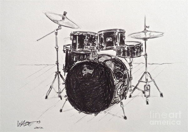 Drums Poster featuring the drawing The Master Set by Wade Hampton