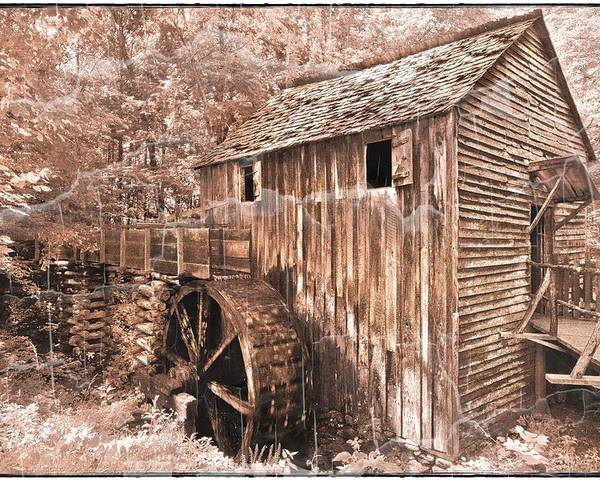 Appalachia Poster featuring the photograph The Mill At Cade's Cove by Debra and Dave Vanderlaan