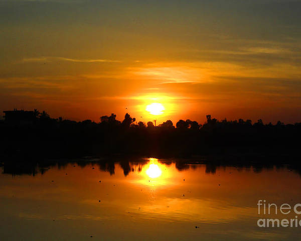 Sunset Poster featuring the photograph The Most Beautiful Sunset Ever Seen by Bhavesh Chhatbar