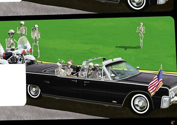 Jfk Poster featuring the digital art The Naked Assassin by Benjamin Anderson