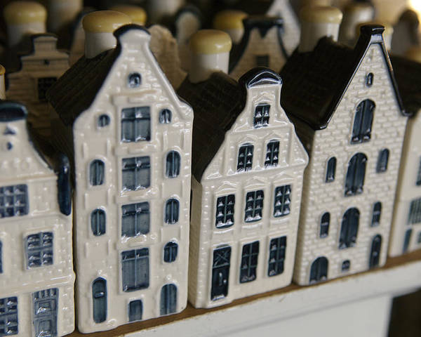 Cityscape Poster featuring the photograph The Netherlands, Amsterdam, Model Houses by Keenpress
