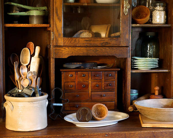 Hoosier Cabinet Poster featuring the photograph The Old Baker by Carmen Del Valle
