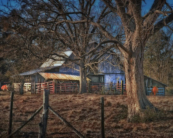 Landscape Poster featuring the photograph The Old Barn by Brenda Bryant