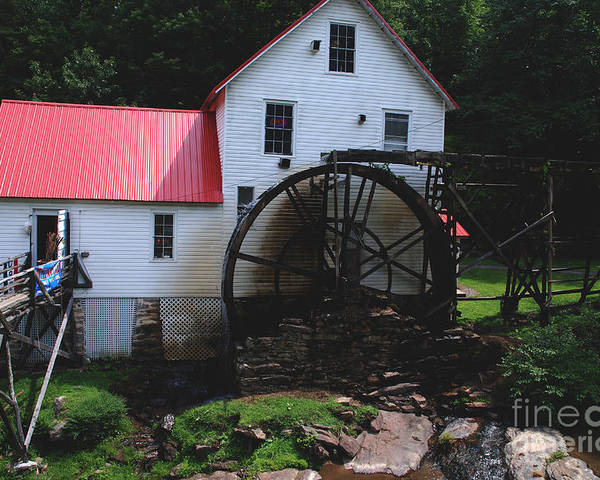 Mill Poster featuring the photograph The Old Mill 1886 In Cherokee North Carolina by Susanne Van Hulst