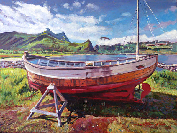 Landscape Poster featuring the painting The Old Timer by David Lloyd Glover
