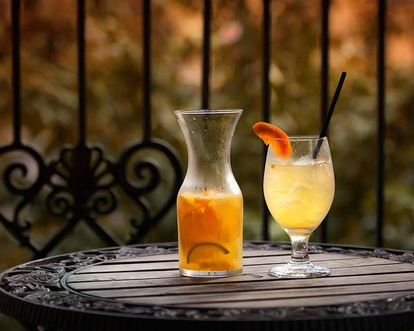 Sangria Poster featuring the photograph The Patio by Brenda Bryant