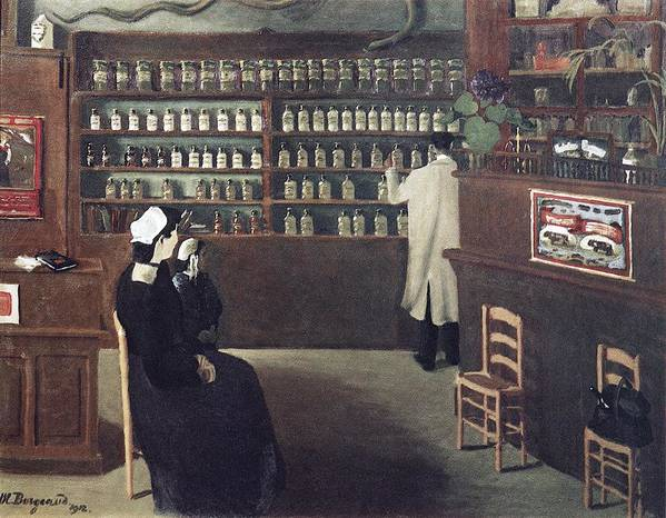 The Pharmacy Poster featuring the photograph The Pharmacy, 1912 Artwork by