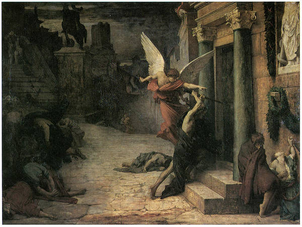 Jules-elie Dalaunay Poster featuring the painting The Plague In Rome by Jules-Elie Delaunay