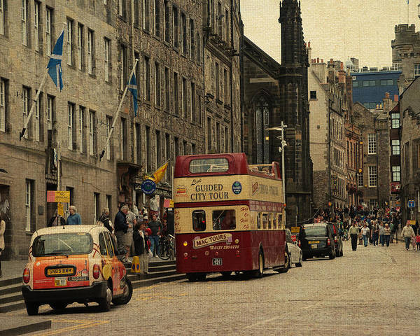 Scotland Poster featuring the photograph The Princes Street In Edinburgh. Scotland by Jenny Rainbow