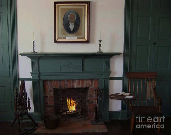 Rankin House Poster featuring the photograph The Rankin Home Fireplace by Charles Robinson