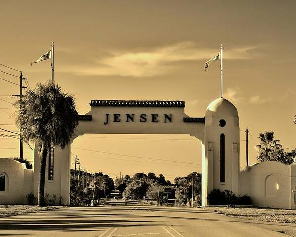 Jensen Beach Poster featuring the photograph The Rio Arch by Don Youngclaus
