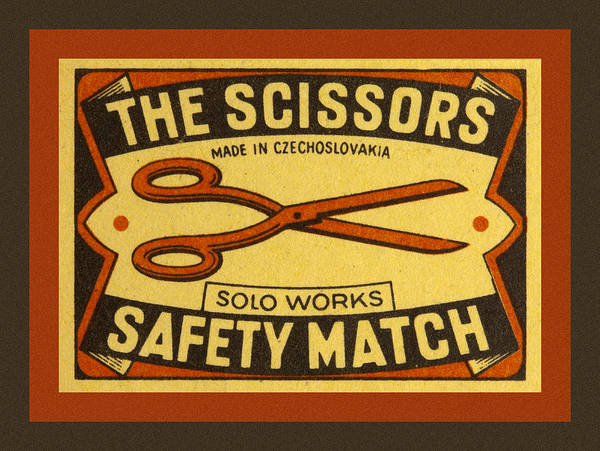 Czech Poster featuring the photograph The Scissors Safety Match by Carol Leigh