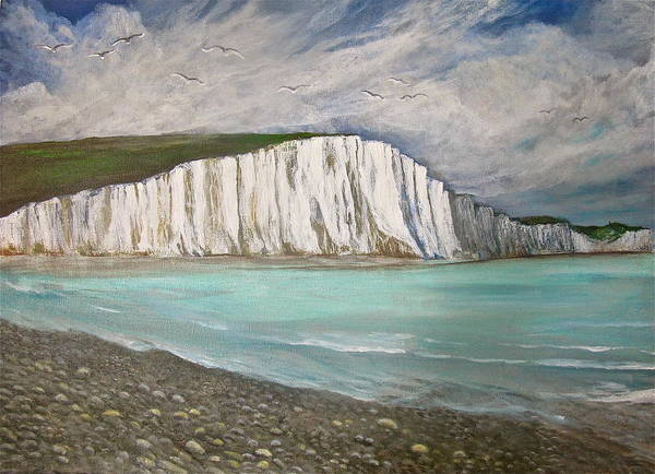 The Seven Sisters Painting Poster featuring the painting The Seven Sisters by Heather Matthews