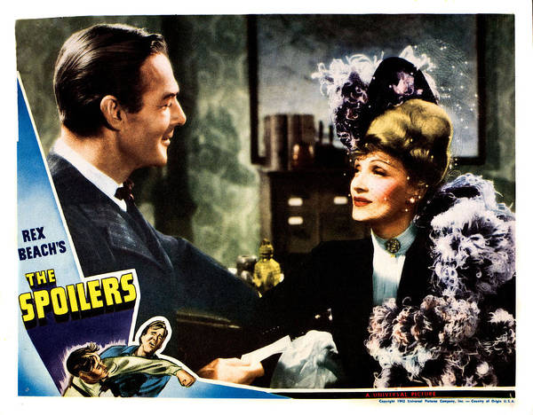 1940s Movies Poster featuring the photograph The Spoilers, From Left Randolph Scott by Everett