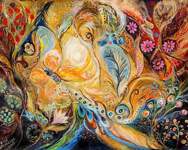 Original Poster featuring the painting The Sunrise ... Visit Www.elenakotliarker.com by Elena Kotliarker