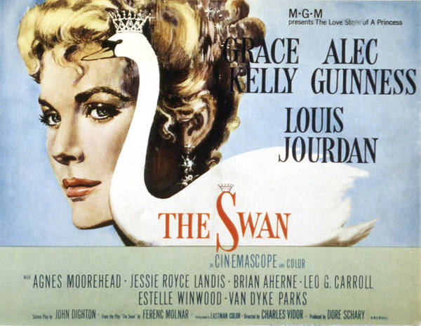 1950s Poster Art Poster featuring the photograph The Swan, Grace Kelly, 1956 by Everett