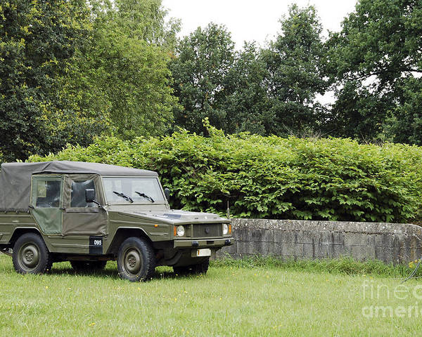 Belgium Poster featuring the photograph The Vw Iltis Jeep Used By The Belgian by Luc De Jaeger