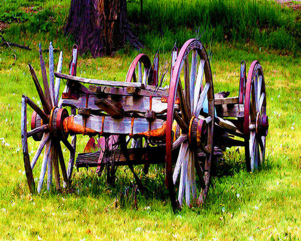 Wagon Poster featuring the photograph The Wagon At El Prado by Terry Fiala