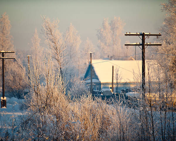 Winter Poster featuring the photograph The winter country by Nikolay Krusser