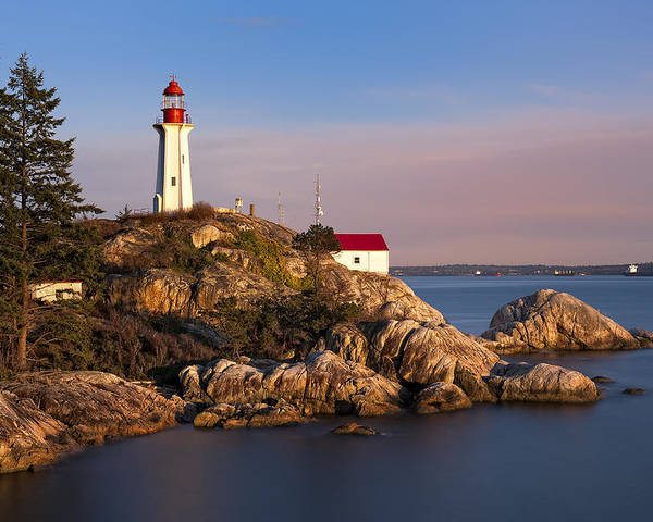 Canada Poster featuring the photograph This Is British Columbia No.62 - Point Atkinson Lighthouse Point by Paul W Sharpe Aka Wizard of Wonders
