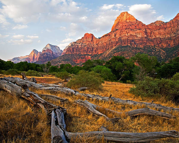Landscape Poster featuring the photograph This Is Zion by Peter Tellone