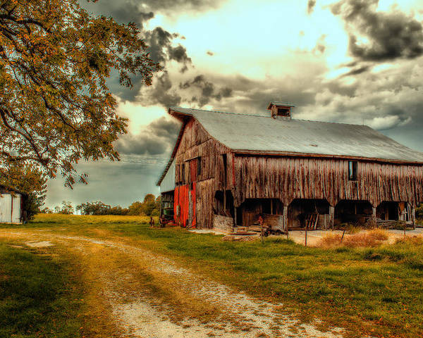 Barn Poster featuring the photograph This Old Barn by Bill Tiepelman