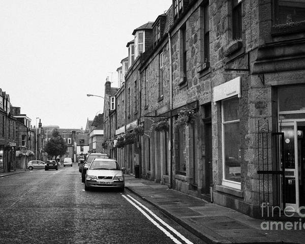 Thistle Poster featuring the photograph Thistle Street Rows Of Granite Houses And Shops Aberdeen Scotland Uk by Joe Fox