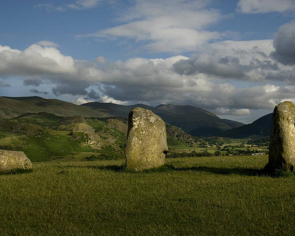 Castlerigg Stone Circle Poster featuring the photograph Three Sisters by Peter Jenkins