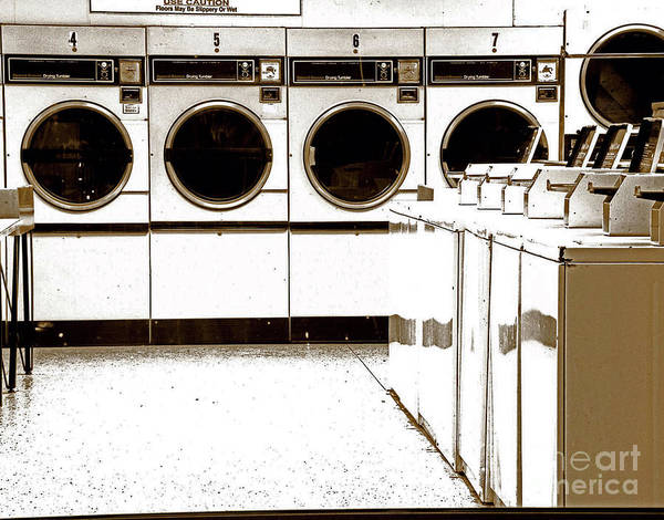 Laundromat Poster featuring the photograph Tide's In by Joe Jake Pratt