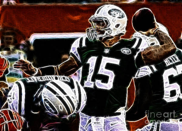Tim Tebow Ny Jets Quarterback Poster featuring the photograph Tim Tebow - Ny Jets Quarterback by Paul Ward