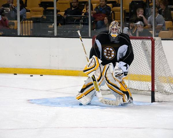 Tim Thomas Poster featuring the photograph Tim Thomas by Mike Martin