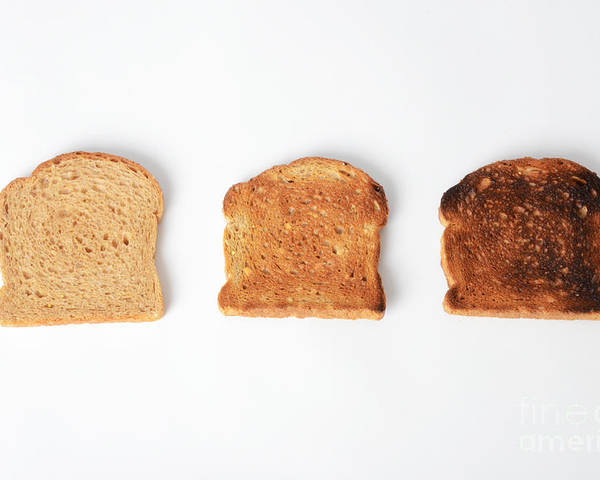 Toast Poster featuring the photograph Toasting Bread by Photo Researchers, Inc.