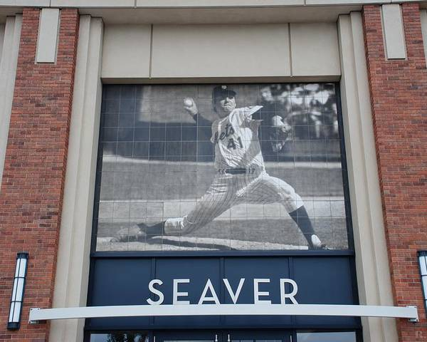 Shea Stadium Poster featuring the photograph Tom Seaver 41 by Rob Hans
