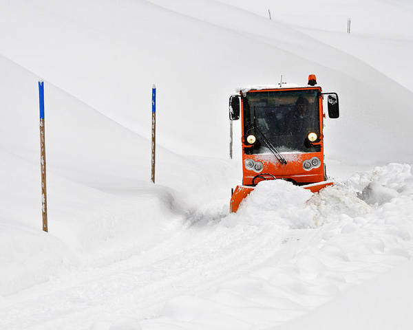 Winter Road Clearance Poster featuring the photograph Tons Of Snow - Winter Road Clearance by Matthias Hauser