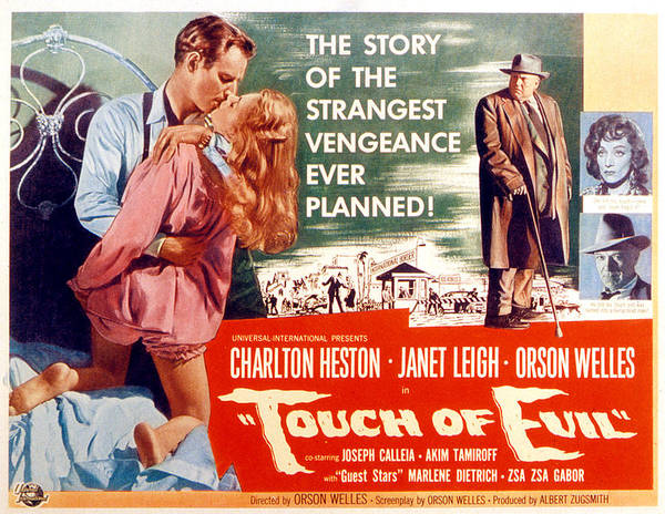 1950s Poster Art Poster featuring the photograph Touch Of Evil, Charlton Heston, Janet by Everett