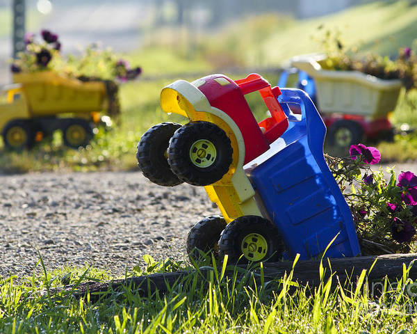 Canada Poster featuring the photograph Toy Truck Planters by Gordon Wood