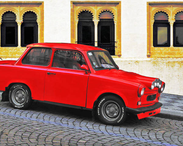 Trabant Poster featuring the photograph Trabant Ostalgie by Christine Till