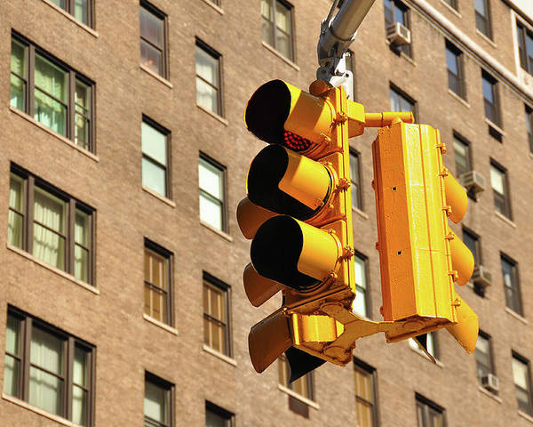 Horizontal Poster featuring the photograph Traffic Signal by Keith McInnes Photography