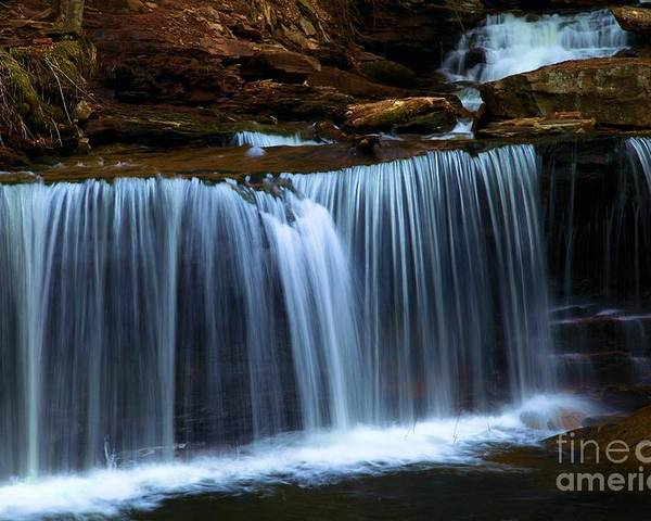 Waterfall Poster featuring the photograph Tranquility by Adam Jewell
