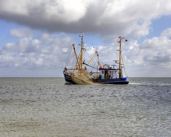 Fishing Boat Poster featuring the photograph trawler - Sylt by Joana Kruse
