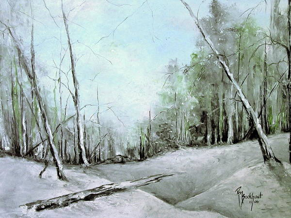 Winter Poster featuring the drawing Trees In Winter #2 by Robin Miller-Bookhout