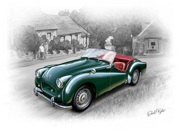 Triumph Poster featuring the painting Triumph Tr-2 Sports Car by David Kyte