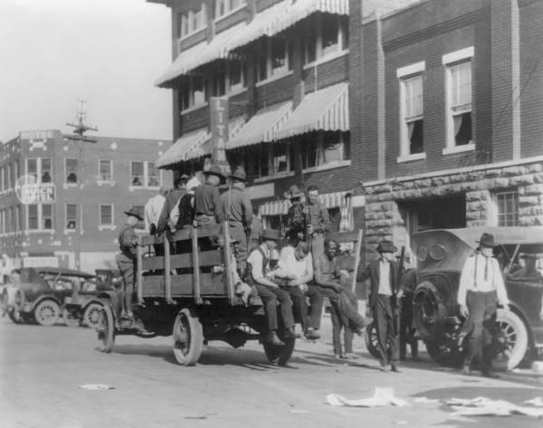 History Poster featuring the photograph Truck On Street Near Tulsa, Oklahomas by Everett