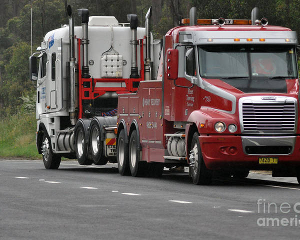 Truck Poster featuring the photograph Truck Tow by Joanne Kocwin