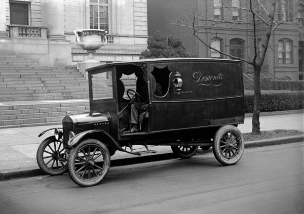 1920s Poster featuring the photograph Trucks. Dermonets Ford Delivery Truck by Everett