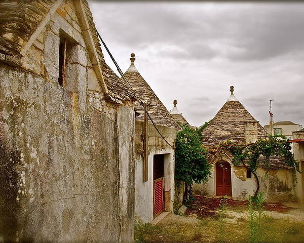 Trulli Poster featuring the photograph Trully Trulli by Tika Muslin