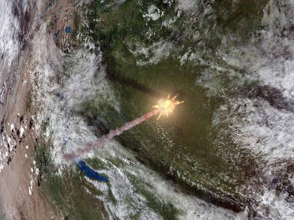 Earth Poster featuring the photograph Tunguska Event by Joe Tucciarone