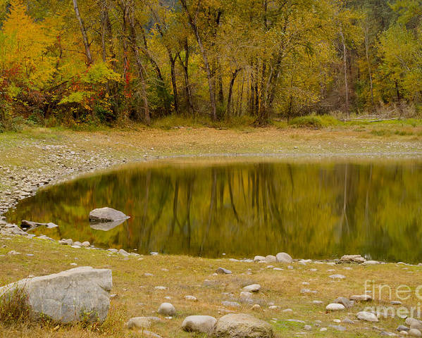 Idaho Poster featuring the photograph Tunnel Pond by Idaho Scenic Images Linda Lantzy